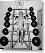 Weightlifting Woman Metal Print by Evans