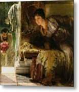Welcome Footsteps Metal Print by Sir Lawrence Alma-Tadema