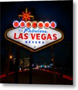 Welcome To Las Vegas Metal Print by Steve Gadomski