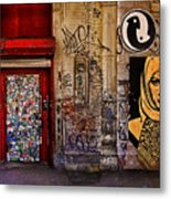 West Village Wall Nyc Metal Print by Chris Lord