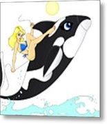 Whale Rider Metal Print by Lynn Rider