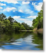 What I Remember About That Day On The River Metal Print by Wendy J St Christopher