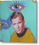 What Would Captain Kirk Do Metal Print by Mike  Mitch
