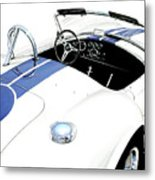 White Ac Cobra Metal Print by David Kyte