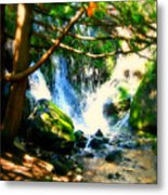 White Falls Metal Print by Perry Webster