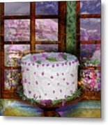 White Frosted Cake Metal Print by Mary Ogle and Miki Klocke