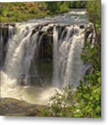 White River Falls Metal Print by Connie Cooper-Edwards