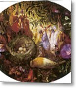 Who Killed Cock Robin Metal Print by John Anster Fitzgerald