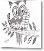 Who Says The Owl Metal Print by Paula Dickerhoff