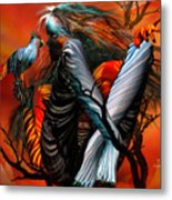 Wild Birds Metal Print by Carol Cavalaris