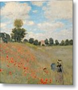 Wild Poppies Near Argenteuil Metal Print by Claude Monet