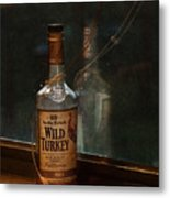 Wild Turkey In Window Metal Print by Brenda Bryant