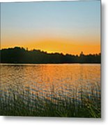 Wilderness Point Sunset Panorama Metal Print by Gary Eason