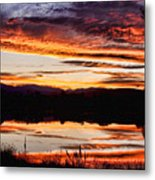 Wildfire Sunset Reflection Image 28 Metal Print by James BO  Insogna