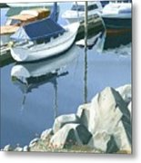 Wildflowers On The Breakwater Metal Print by Gary Giacomelli