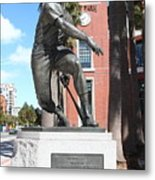 Willie Mays At San Francisco Giants Att Park . 7d7636 Metal Print by Wingsdomain Art and Photography