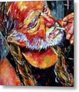 Willie Nelson Booger Red Metal Print by Debra Hurd