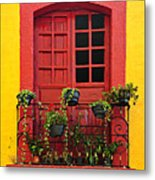 Window On Mexican House Metal Print by Elena Elisseeva