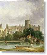 Windsor Castle - From The Thames Metal Print by Alfred Vickers