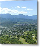 Windward Oahu Panorama I Metal Print by David Cornwell/First Light Pictures, Inc - Printscapes