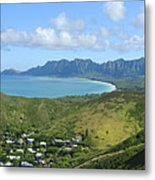 Windward Oahu Panorama IIi Metal Print by David Cornwell/First Light Pictures, Inc - Printscapes