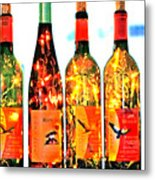 Wine Bottle Lights Metal Print by Margaret Hood