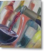 Wine Pour Metal Print by Donna Tuten