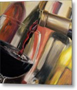 Wine Pour II Metal Print by Donna Tuten
