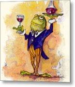 Wine Steward Toady Metal Print by Peggy Wilson
