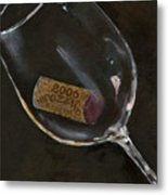 Wine With Dinner Metal Print by Sheryl Heatherly Hawkins