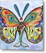 Winged Metamorphosis Metal Print by Lucy Arnold
