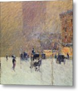 Winter Afternoon In New York Metal Print by Childe Hassam