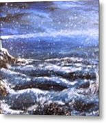 Winter Coastal Storm Metal Print by Jack Skinner