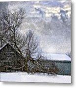 Winter Farm Metal Print by Steve Harrington