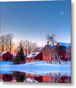 Winter In New England Metal Print by Michael Petrizzo