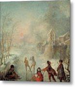 Winter Metal Print by Jacques de Lajoue