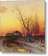 Winter Landscape Metal Print by Julius Sergius Klever