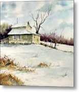 Winter Washday Metal Print by Sam Sidders