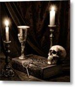 Wisdom Of The Ages Still Life Metal Print by Tom Mc Nemar