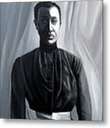 Woman In Apron Out Of The Box Series  Metal Print by Joyce Owens