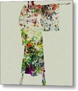Woman In Kimono Metal Print by Naxart Studio