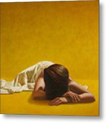 Woman In Yellow Metal Print by Horacio Cardozo