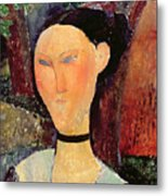 Woman With A Velvet Neckband Metal Print by Amedeo Modigliani