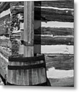 Wooden Water Barrel Metal Print by Douglas Barnett