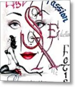 Words Of The Dirty Mind Metal Print by Scarlett Royal