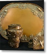 Wyoming Wildflowers Bronzes Metal Print by Dawn Senior-Trask