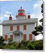Yaquina Lighthouses - Yaquina Bay Lighthouse Oregon Metal Print by Christine Till