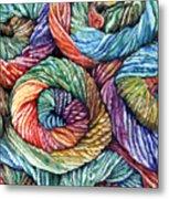Yarn Metal Print by Nadi Spencer