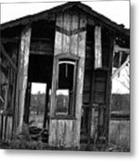 Ye Ol' Train Station Metal Print by Sandy Poore