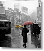 Yellow Cabs New York 2 Metal Print by Andrew Fare